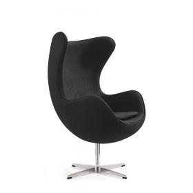 egg chair fauteuil zwart