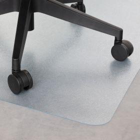 vloerbeschermer bureaustoelmat transparant 120x150 cm - voor harde vloeren en laminaat