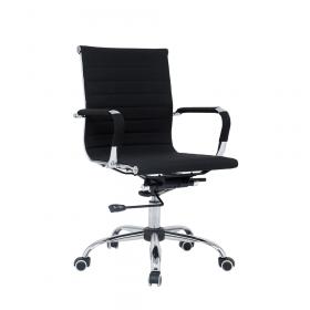 design bureaustoel zwart stof